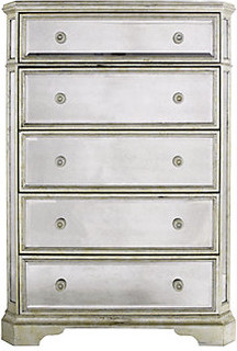 Borghese Mirrored 5 Drawer Chest   Modern   Dressers   By Z Gallerie