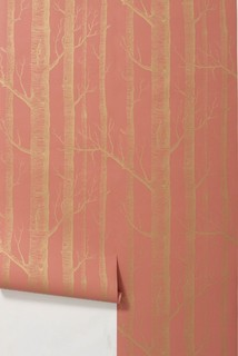 Woods Wallpaper, Coral - by Cole and Son eclectic wallpaper