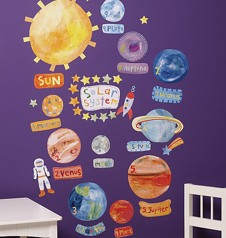 Solar System Vinyl Decals - Contemporary - Kids Wall Decor ...
