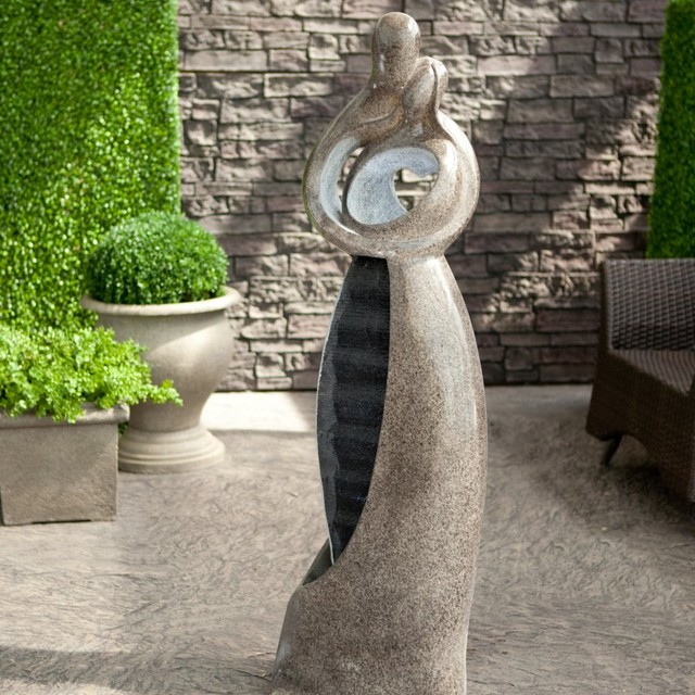 Attrayant Artmada Embrace Water Fountain With LED Light Modern Outdoor Fountains  And Ponds