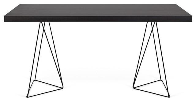 Multi Table, 180cm Trestles, Wenge, Black.
