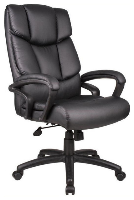 boss office products overstuffed executive leather office chair