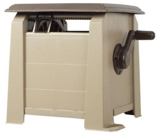 Ames 2398820 NeverLeak Deck Hose Reel Box, 175u0026#039; Hose Contemporary  Garden