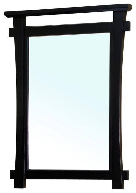 Framed Bathroom Mirrors Houzz asian framed mirrors | houzz