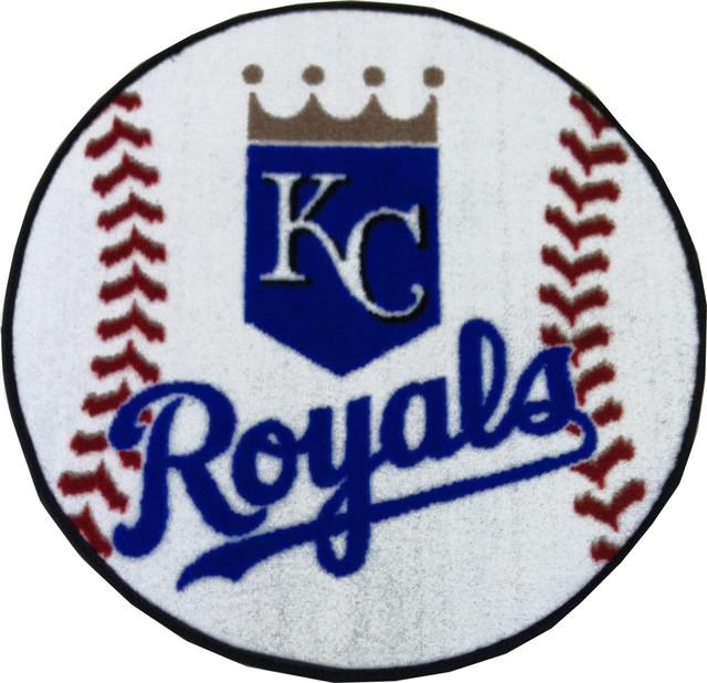 MLB Kansas City Royals Baseball Round Shaped Accent Rug