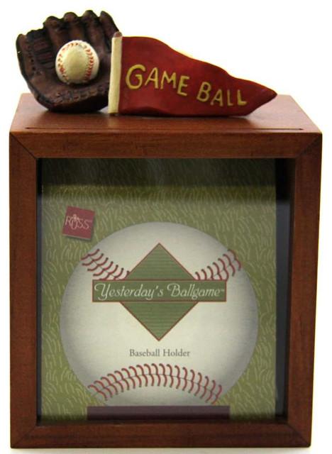 baseball case frame holder transitional picture frames