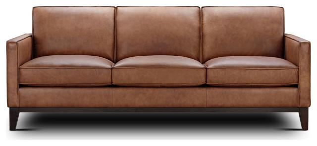 Pimlico 100 Top Grain Leather Sofa, Grain Leather Sofa