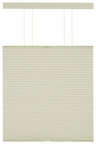 Top-Down Cordless Honeycomb Cellular Pleated Shades, Set Of 2, Alabaster, 33.