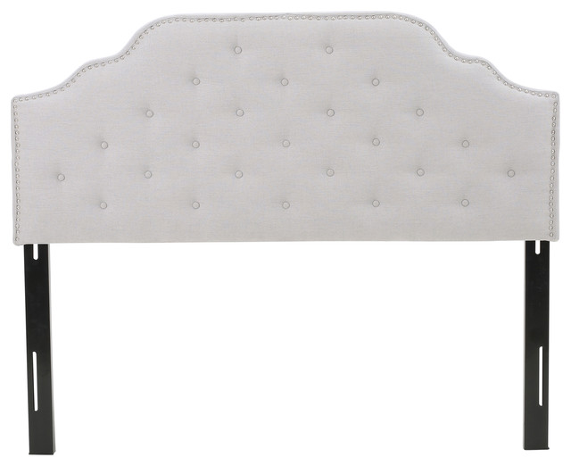 Austell Light Gray Fabric Queen/full Headboard.