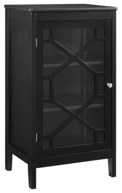 Fetti Black Small Cabinet Contemporary Accent Chests And Cabinets By Linon Home Decor Products