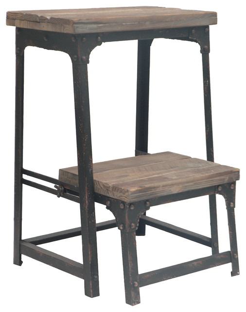 Inspirational Industrial Ladders And Step Stools by Crestview Collection
