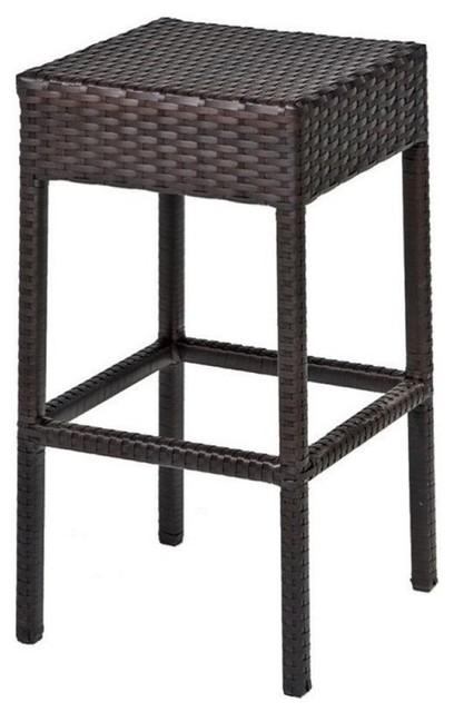 Fine Pemberly Row 30 Backless Wicker Patio Bar Stools Espresso Set Of 2 Beatyapartments Chair Design Images Beatyapartmentscom