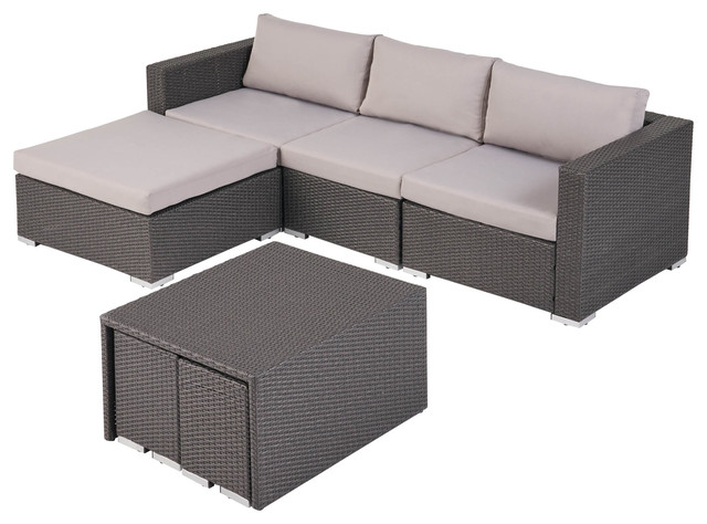 Ursula Rosa Outdoor 3 Seater L Shaped