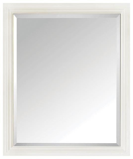 Avanity thompson 28 mirror french white finish for Craftsman mirrors bathroom