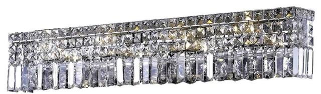 Elegant Lighting Maxime 8-Light Wall Sconce, Swarovski Elements, Crystal Clear