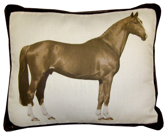 Horse Pillow, Brown - Decorative Pillows - by lava