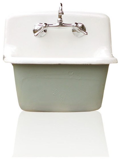 Deep Utility Sink Antique Style Cast Iron Porcelain Farm