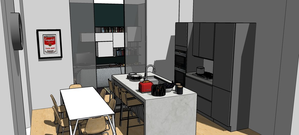 Città Studi_Immagine render della cucina