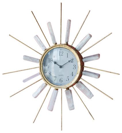 Dulcie Beam Clock, Gold Foil.