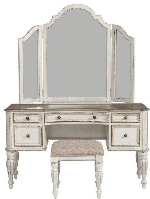 Liberty Furniture Magnolia Manor 3pc Vanity Set Farmhouse