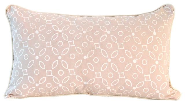 Pale Pink Batik Pillow Lumbar Pillow Rectangular Boho Pillow