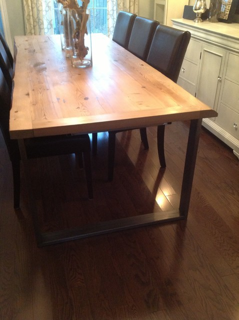 Industrial Chic Hemlock dining table 8 extended to 11  : home design from www.houzz.it size 478 x 640 jpeg 62kB