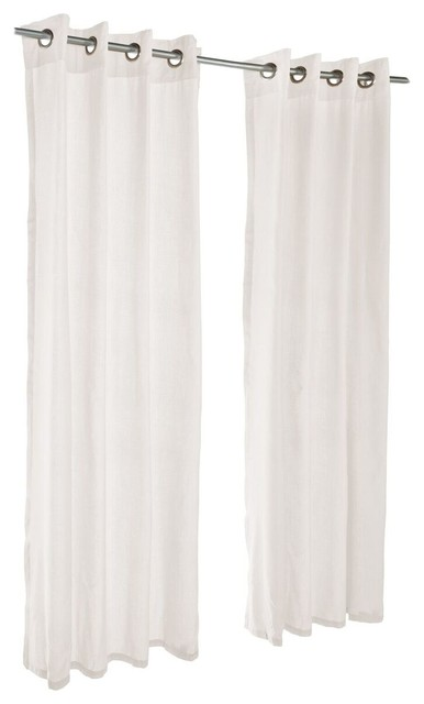 "Spectrum Eggshell Sunbrella Outdoor Curtain with Grommets, 120""x50"""