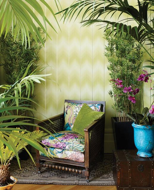 Wohnzimmer Tapete Und Stoff Klassisch Exotisch Und Modern Kolonialstil