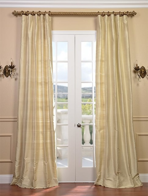 maplewood textured dupioni silk curtain traditional