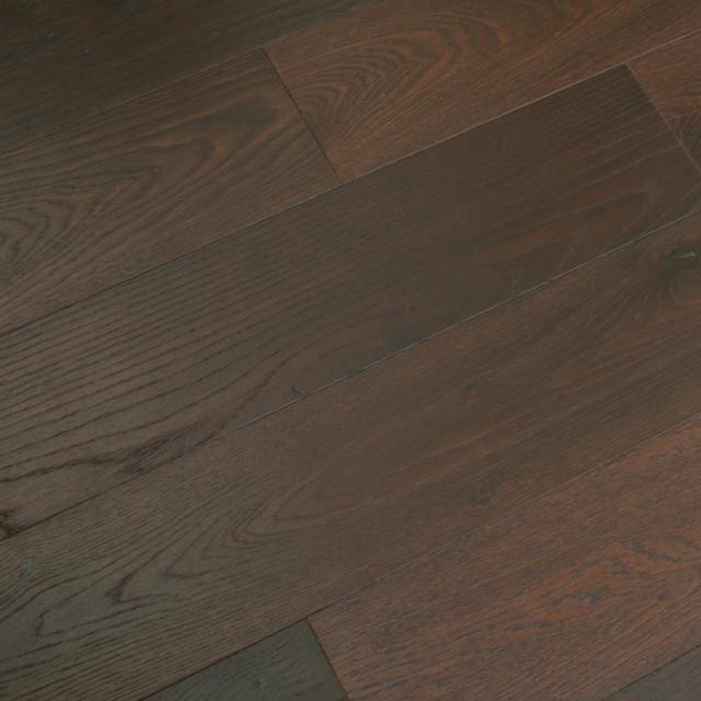Brushed French White Oak Hardwood Flooring, Sample, Cicerone Stout  Traditional Engineered Wood