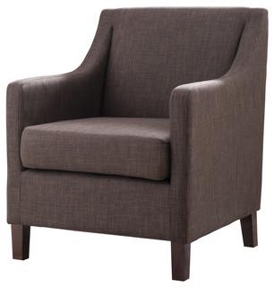 Ambrosia Upholstered Armchair, Chocolate