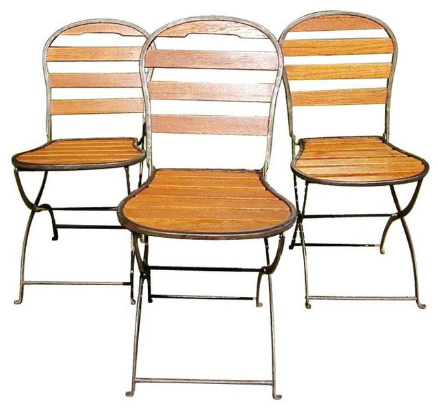 Folding U002740s French Bistro Chairs   Set Of 4   $3,200 Est. Retail