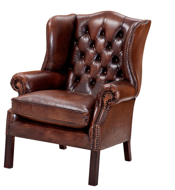 Eichholtz Club Bradley Leather Armchair - Traditional ...