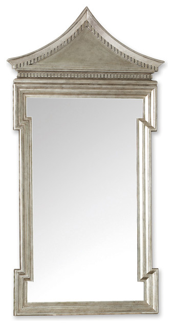 Governors Palace Hollywood Regency Antique Silver Leaf Wall Mirror - 50.5 Inch