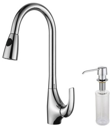 Kraus Pullout Spray Kitchen Faucet Soap Dispenser Contemporary