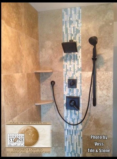 Authentic Durango Noche X Shower Wall Tiles Eclectic
