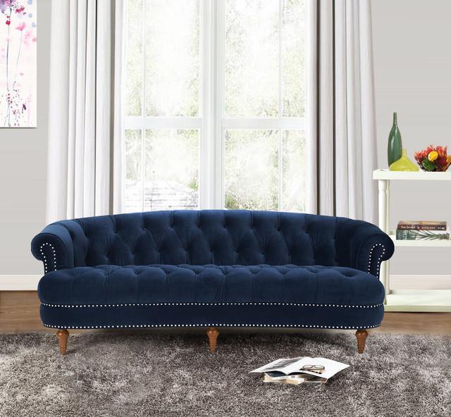 la rosa sofa navy blue contemporary living room. Black Bedroom Furniture Sets. Home Design Ideas