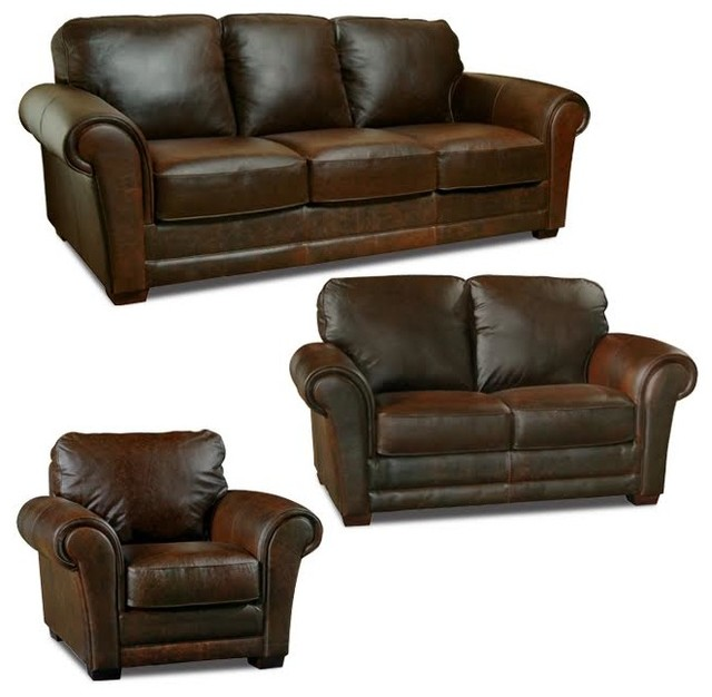 Mark Sofa, Loveseat And Chair Set, Whiskey.