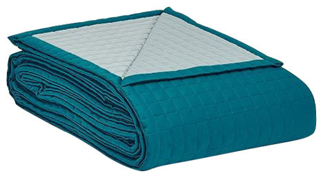 Fleet Bedspread, Teal, Super King