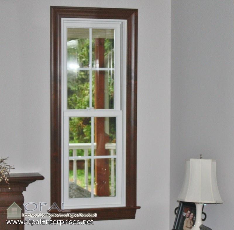 White Window Wood Trim Houzz