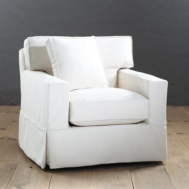 Living Room Chair Covers: Graham Swivel Chair Slipcover And Frame