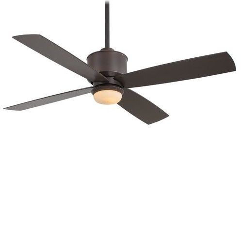 """Minka Aire Strata 52"""" Indoor/outdoor Ceiling Fan With Remote Control, Oil Rubbed."""