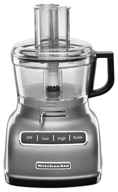Exactslice System 7-Cup Food Processor, Adjustable Lever, Contour Silver.