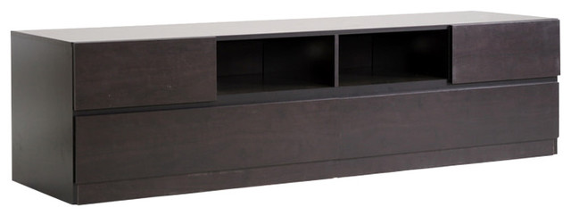 Lovato Modern Tv Stand Dark Brown