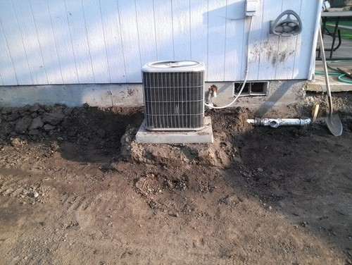 Advice on condenser pad install for Concrete advice