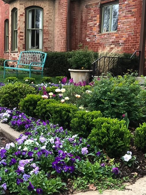 Inspiration för en vintage trädgård