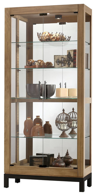 Howard Miller Quinn Aged Natural Curio Cabinet.