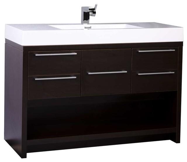 Conceptbaths 47 Modern Bathroom Vanity Set With Espresso Finish Contemporary Bathroom