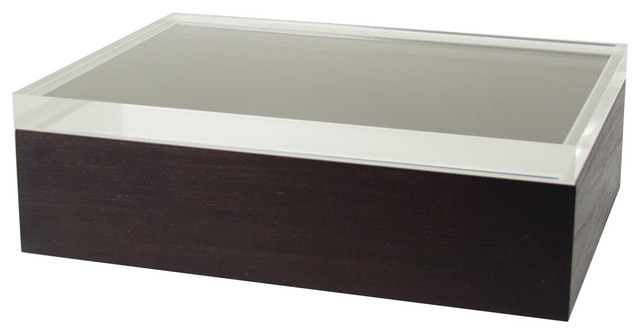 A4 Jewel Box With Lucite Top contemporary-jewelry-boxes-and-organizers  sc 1 st  Houzz : modern jewelry boxes - Aboutintivar.Com