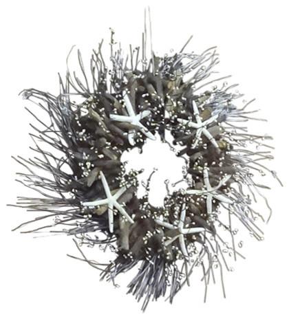 "Starfish Driftwood Wreath, 25""."